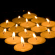 Diamond of candles — Stock Photo