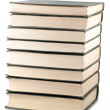 Stock Photo: Books stack with clipping path