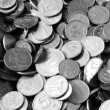 Постер, плакат: A pile of russian coins desaturated