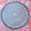 Sewer manhole - Stock Photo