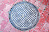 Sewer manhole — Stock Photo