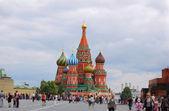 St. fesleğen (hendek bakire koruma katedral) moskova — Stok fotoğraf