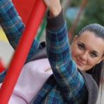 zielonooki brunetka — Zdjęcie stockowe #1178200