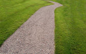 Footway in a garden — Stock Photo