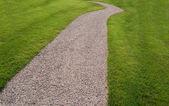 Footway in a garden — Stock Photo