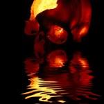 ������, ������: Burning skull