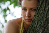 Blue-eyed girl — Stock Photo