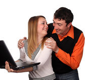 Joking couple — Stock Photo