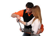 Working couple — Stock Photo