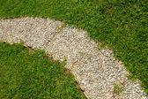 Footway i trädgården — Stockfoto