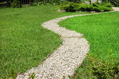 Footway in garden — Stock Photo