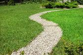 Footway in garden — Stock Photo