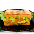Royalty-Free Stock Photo: Sandwich with a salmon and  lettuce
