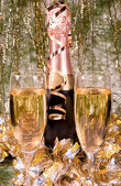 Champagne and New year — Stock Photo