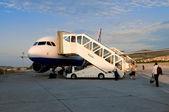 Passenger airplane — Stock Photo
