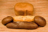 Rye and white bread — Stock Photo