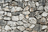 Stacked Natural Field Rock Wall Backgrou — Stock Photo