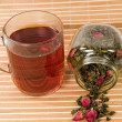 Tea with a rose — Stock Photo #1046569