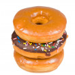 Stack of glazed donuts — Stock Photo
