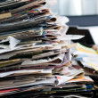 Pile of old newspapers ready for recycling — Stock Photo #1048291