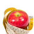 Royalty-Free Stock Photo: Apples and measuring tape