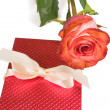 Royalty-Free Stock Photo: Rose and gift.