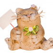 Decorative statuette of cat — Stock Photo