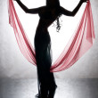 Stock Photo: Silhouette of dancing woman