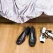Female and man's shoes — Stock Photo