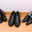 Man's and female shoes — Stock Photo