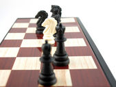 Composition from chess — Stock Photo