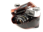 Old Films Camera with film — Stock Photo