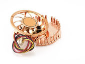 Small fan for microprocessor — Stock Photo