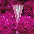 One glass in the tinsel — Stock Photo #1031587