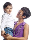 Moeder met zoon — Stockfoto