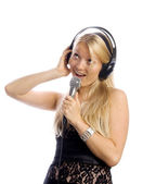 Singer — Stock Photo