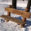 Bench is in winter — Stock Photo