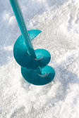 Ice-drill — Stock Photo