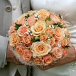 Cream-coloured bouquet. - Stock Photo