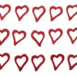 Hearts on white background - Stock Photo