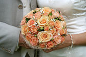Cream-coloured bouquet. — Stock Photo
