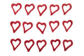 Hearts on white background — Stock Photo