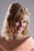 Bride in cream dress. Portrait 2 — Stock Photo