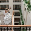 Bride in gallery — Stock Photo