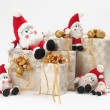 Gifts and gnomes — Stock Photo