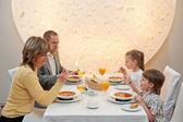 Dinner in restaurant — Stock Photo