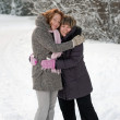 Friendship in winter — Stock Photo