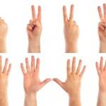 manliga händer räknar — Stockfoto