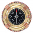 Royalty-Free Stock Photo: Old-fashioned compass on white