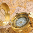 Old-fashioned compass — Stock Photo